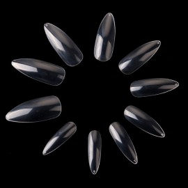 Makartt Long Stiletto 500Pcs Nail Art Tips Clear/Natural Sharp end False Fake Nails Tips Manicure Artificial Nails Salon A0493