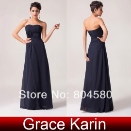 Grace karin Floor-length off shoulder Chiffon Long Dress Formal Evening Gown CL3442