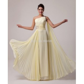 Princess Grace Karin One Shoulder Chiffon Evening dress Long Prom dresses  Ball Party Gown Women Celebrity Plus Dress 6066