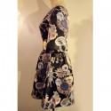 Vintage Boat Neck 3/4 Sleeves Print Dress For Women