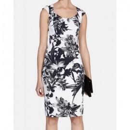 Vintage Scoop Neck Sleeveless Print Dress For Women