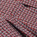Vintage Jewel Neck Half Sleeves Print Dress For Women