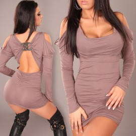Fashion Women Sexy Off Shoulder Long Sleeve Bodycon Clubwear Mini Dress Party Dress N079
