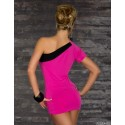 Fashion Women Sexy One Shoulder Short Sleeve Bodycon Mini Summer Casual Dress 8566