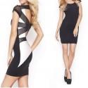Party Dress Women Criss Cross Lace Back Bodycon Mini Dress Club Bandage Dress Vestidos Women   9103