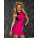 Summer Dress Women Sexy  Sleeveless Rose Red Color Backless Bodycon Bandage Dress 8574