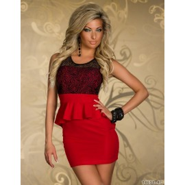 Vestidos De Festa Floral Lace Bodycon Peplum Dress Summer Sleeveless Mini Casual Dress 9026