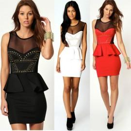 Vestidos Femininos Women Bodycon Peplum Dress Office Lady Business Dress Women Work Wear 9003