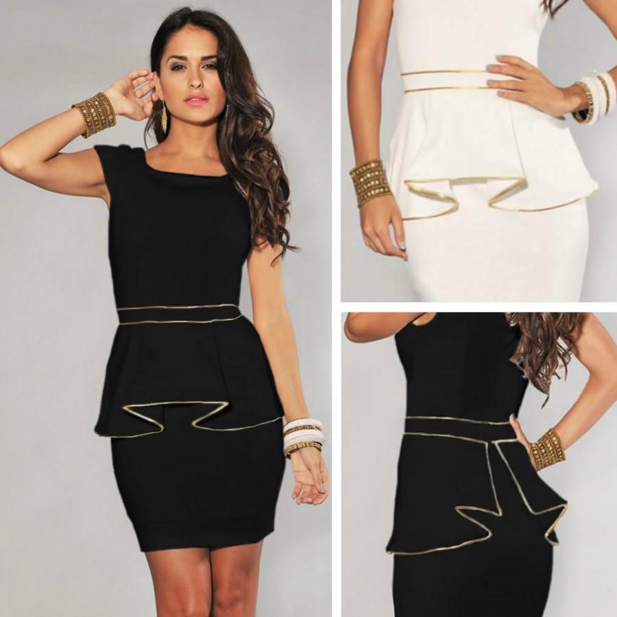 M L XL Plus Size Fashion Women Elegant Black and White ...