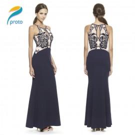 Slim Elegant Celebrity Women Summer Dress   Style Maxi Panel Casual Lace Dress Vestidos Femininos Party Dresses HW0261