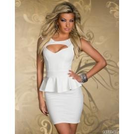 Summer Elegant Vestidos M L XL Plus Size   Fashion Sexy Bodycon Peplum Dress OL Office Work Wear  Mini Casual Dress 9008