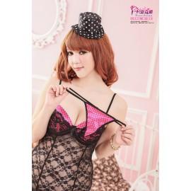 Women Nightwear Nightdress Nightgown Adult Club Wear Dress Lady Sexy Lingerie Babydoll 3801
