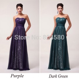 Hot  Womens Ladies Off Shoulder Sexy Shining Sequins prom Dress Evening Party Dresses CL6005