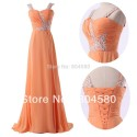 Floor-Length Beading Sweetheart Elegant Formal Evening Dress Lady Long prom party Chiffon Dresses CL6045
