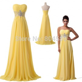 Fashion Women's Strapless Floor-Length Chiffon Celebrity Dress Long Prom Party Gown Formal Evening Dresses CL6002
