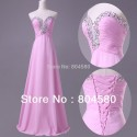 A-Line Floor Length Empire Beaded Chiffon Formal Dresses Long prom dress Women Evening party gown CL6055