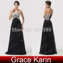 Black Pink lace Appliques Long Evening dress Floor Length Sleeveless Celebrity dresses Formal Prom Party Gown CL6135