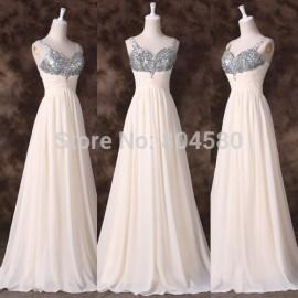 Grace Karin Spaghetti Strap Chiffon Celebrity Dress Floor-Length Long Evening Prom Dresses Formal  CL6263