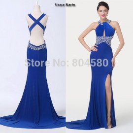 Fashion One Piece Women Winter Celebrity dresses Bodycon Bandage dress Long Backless Evening Gown CL6277