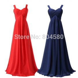 2015 New Arrival Floor Length Two Shoulder prom dresses Long Evening Gown dress Sleeveless Formal Gowns Blue Red White CL3466