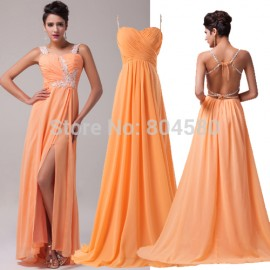 2 Styles Cheap Clothes China Chiffon Long Formal Evening Dress Prom Dresses Floor Length Long Party Gown Women Backless 602545