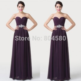 Beautiful Autumn Sexy Women Strapless Plus Size Long Design Formal Evening dress Beach Party Gown Fashion Prom Dresses CL6190