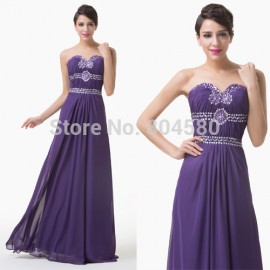 Best Sale Grace Karin Stock  Floor Length Beading Formal Occasion Gown Long Prom party dress Evening dresses Women CL6187