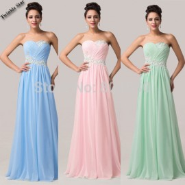 Charming Grace Karin Summer Winter Floor Length Women Chiffon Evening dress Long Formal Prom Party Gown Celebrity dresses CL6107