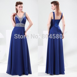 Cheap Grace Karin Sexy Elegant Design Formal Evening dresses Floor length Retro party Dress Long Celebrity Prom Gown CL4410