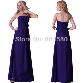 Cheap in Stock Hot Sexy Grace Karin Strapless Celebrity dresses Chiffon Prom Evening Dresses Formal Party Gown CL3434