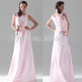 Discount Top Grace Karin A-line Scoop Floor-length Satin Long Bridesmaid Dresses Formal Dress CL3438