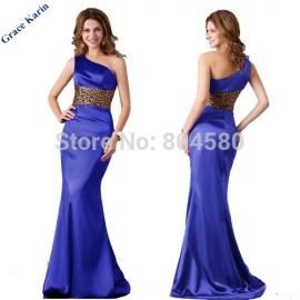 Elegant  Women Summer Floor Length One Shoulder Maxi Evening Prom Party dress Long Celebrity inspired dresses CL2020