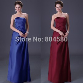 Elegant Fashion Grace Karin Strapless Floor Length Women Formal Dress Party Evening Gown Long bandage dress CL3138