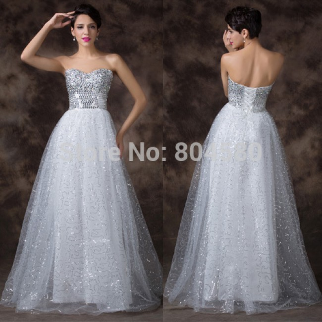 Elegant  Strapless Tulle Formal model dress party long maxi Evening dresses women Celebrity Gowns Lace-up back CL6150