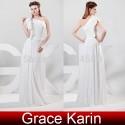 Elegant Stock One shoulder Floor Length Chiffon party Evening Dresses Celebrity Dress Formal Gowns Prom  CL6085 (AL12)