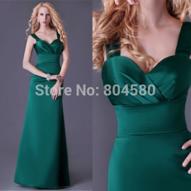 Fashion Stock Sweetheart Floor Length Long Prom dresses Formal Party Gown Green Bandage Evening Dress  CL3463