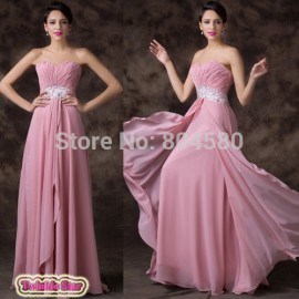 Fashion Summer Autumn Women Floor Length A-Line Celebrity Chiffon Dress party Evening Elegant Prom dresses Formal Gowns CL6202