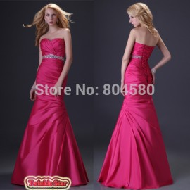 Fashion Women Sexy Sweetheart Formal party Bandage Dress Mermaid Evening Dresses Long Red Celebrity Prom Gown CL2289