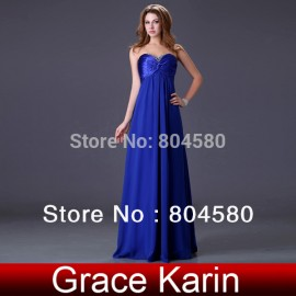 Delivery  Colorful Prom Dresses Sweetheart A-Line Floor-Length Chiffon Evening Gowns CL4101
