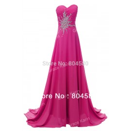 Grace Karin Stock Strapless Chiffon Evening Prom dress Floor Length Long Women Pageant Party Dresses Gown CL4505