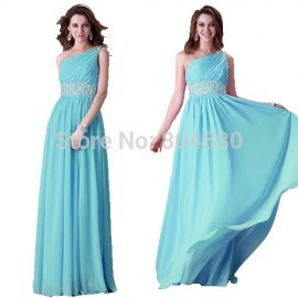 GraceKarin One Shoulder Special Occasion Prom dress   Formal party Dinner Gowns Long Evening Dresses CL3410