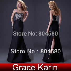 Grace Karin Stock Strapless Leopard Party Gown Prom Ball Formal Evening Dress 8 Size CL3423