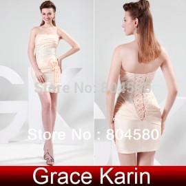 Grace Karin Stock Strapless Taffeta Evening Prom Fashion Party Dress,Bandage Dresses 8 Size US 2~16