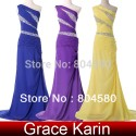 Fashion Ladies Colorful Beaded One Shoulder Prom Gown Long Sheath Dress Sheath Party Evening dresses CL4971