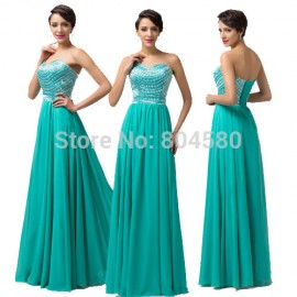 Free Shipping GK Sexy Strapless Party Chiffon Celebrity dress Long Evening Gowns A Line Prom dresses 2015 Special Occasion 6164