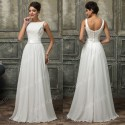 Free Shipping Sleeveless White Lace Appliques Bride Evening Dress Party Prom Gown Runway Long Celebrity dresses Formal C7560
