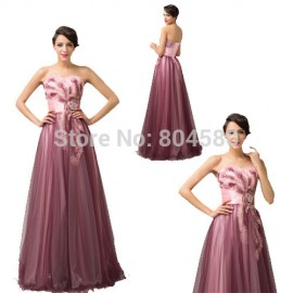 Grace Karin Stock Off Shoulder Appliques Strapless Formal Party Gown Long dress Prom Evening dresses Women CL6163