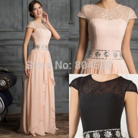 Gorgeous   Sexy Floor Length Women Casual Novelty Party Gown Chiffon Evening Prom Dress Long Maxi Formal dresses CL7520