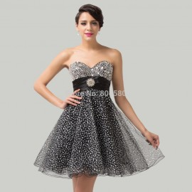 Gorgeous Knee length Strapless Homecoming Dress Formal Evening Ball Gown women Short Prom dresses Party Quinceanera Gowns CL6139