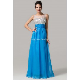 Grace Karin   Floor Length A-line Sleeveless long Prom dress Party Evening Elegant Formal Women Homecoming Gown CL6130